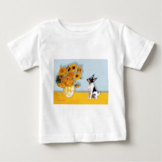 Toy Fox Terrier - Sunflowers Baby T-Shirt