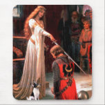 """Toy Fox Terrier - The Accolade Mouse Pad<br><div class=""""desc"""">The Accolade by Edmund Blair Leighton (1853-1922) - painted in 1901,  adapted to include a Toy fox terrier,  one of the most romantic masterpieces of our time.</div>"""