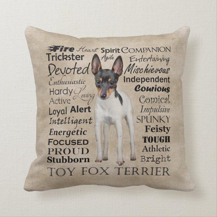 Toy Fox Terrier Traits Pillow Zazzle Com