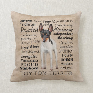 Toy Fox Terrier Traits Pillow