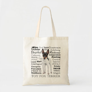Toy Fox Terrier Traits Tote Bag