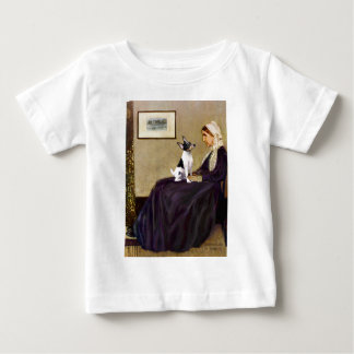 Toy Fox Terrier - Whistler's Mother Baby T-Shirt