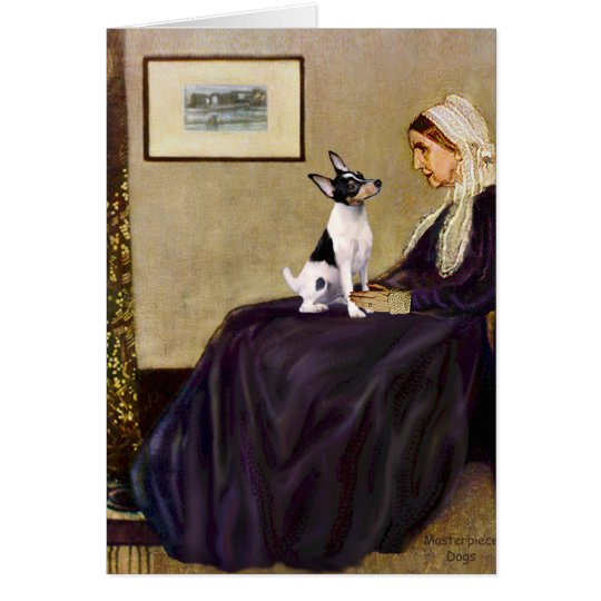 Toy Fox Terrier - Whistler's Mother Card