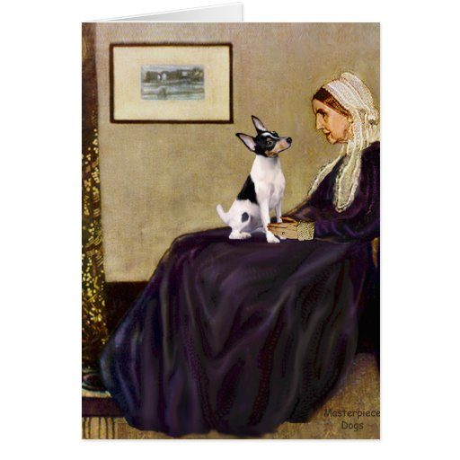 Toy Fox Terrier - Whistler's Mother Greeting Card