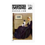 Toy Fox Terrier - Whistler's Mother Postage Stamps