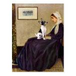Toy Fox Terrier - Whistler's Mother Postcard