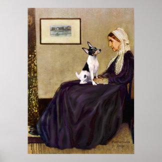 Toy Fox Terrier - Whistler's Mother Print