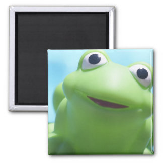 Toy Frog Close-Up 2 Inch Square Magnet