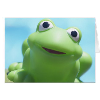 Toy Frog Close-Up Greeting Card