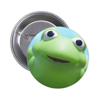 Toy Frog Close-Up Pinback Button