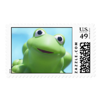 Toy Frog Close-Up Postage Stamp