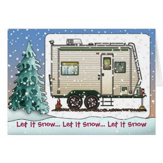 Toy Hauler Trailer Camper Holiday Cards