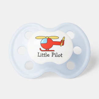 Toy helicopter pilot pacifier | Aviation theme BooginHead Pacifier