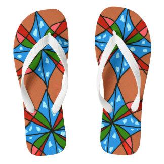 """Toy Kite and Pinwheel"" abstract flip flops. Flip Flops"