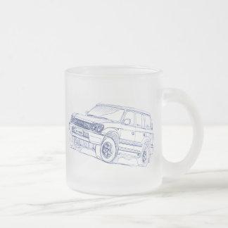 Toy Land Cruiser 90 series Prado 1996 Frosted Glass Coffee Mug