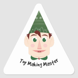 Toy Making Master Triangle Sticker