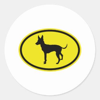 Toy Manchester Terrier Classic Round Sticker