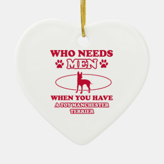 Toy Manchester Terrier dog breed designs Christmas Ornaments