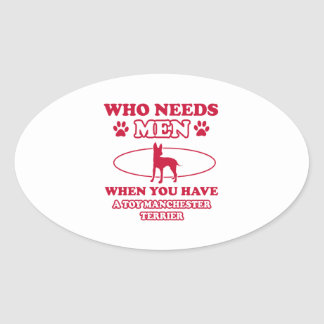 Toy Manchester Terrier dog breed designs Oval Sticker