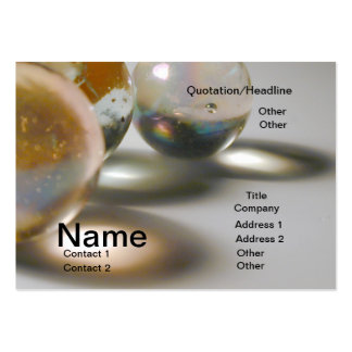Toy Marble 2 Large Business Cards (Pack Of 100)