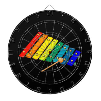toy metal xylo graphic drum dartboard with darts
