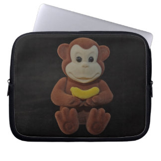 Toy Monkey with a Banana Laptop Sleeve