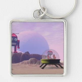 Toy Moon Walker Scene Keychain