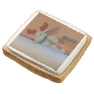 Toy moose square premium shortbread cookie