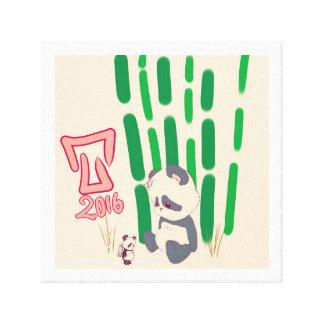 Toy panda canvas print
