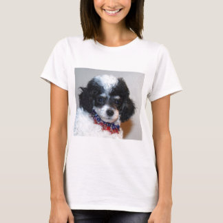 Toy Parti Poodle Puppy face T-Shirt