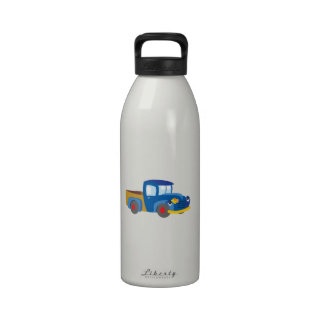 Toy Pickup Truck Reusable Water Bottle