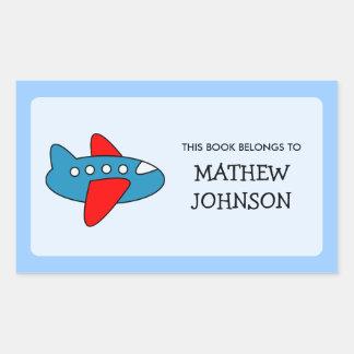Toy plane book label stickers | School supplies Sticker