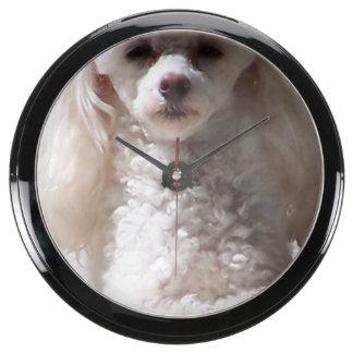 Toy Poodle Aquavista Clock