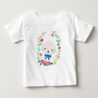 Toy Poodle Bichon Frise with Flowers Baby clothes Shirt