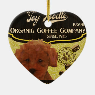 Toy Poodle Brand – Organic Coffee Company Ceramic Ornament