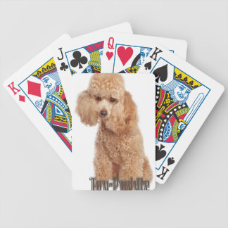 toy poodle breeds bicycle playing cards