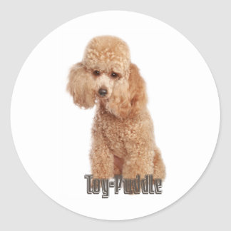 toy poodle breeds classic round sticker