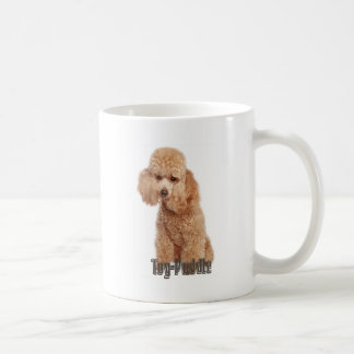 toy poodle breeds classic white coffee mug