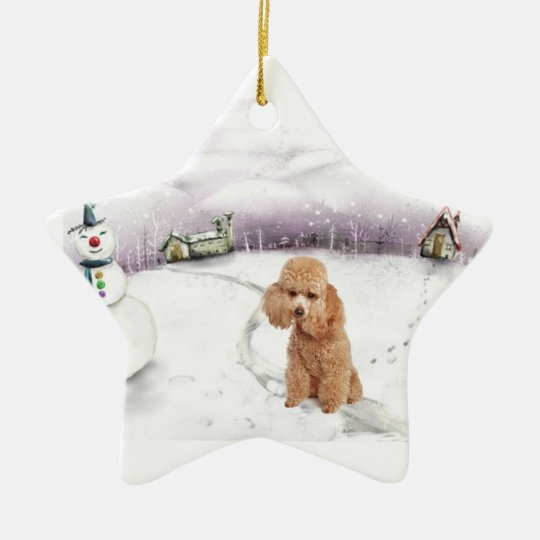 Toy Poodle Christmas ornament