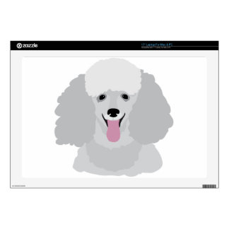 """Toy Poodle Decals For 17"""" Laptops"""