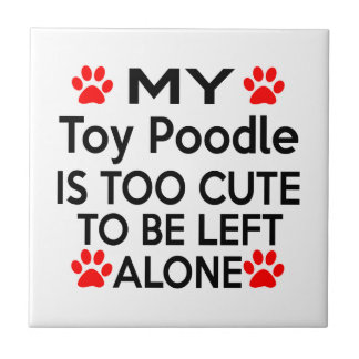 Toy Poodle Designs Tile