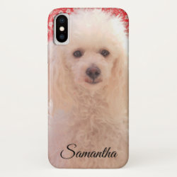 Case-Mate Barely There Apple iPhone XS Case with Poodle Phone Cases design