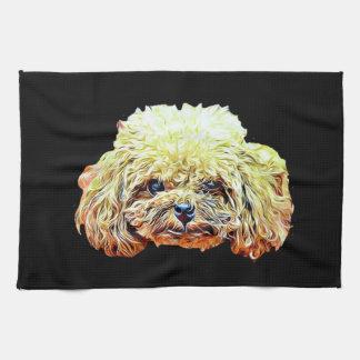 Toy poodle dog kitchen towel