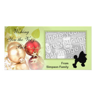 Toy Poodle ~ Green Leaves Design Card