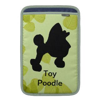 Toy Poodle ~ Green Leaves Design MacBook Sleeves