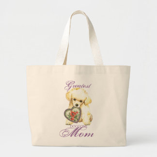 Toy Poodle Heart Mom Large Tote Bag