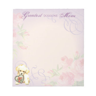 Toy Poodle Heart Mom Memo Note Pad