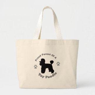 Toy Poodle Large Tote Bag
