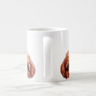 Toy poodle reddish brwon coffee mug