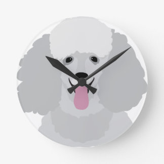 Toy Poodle Round Clock